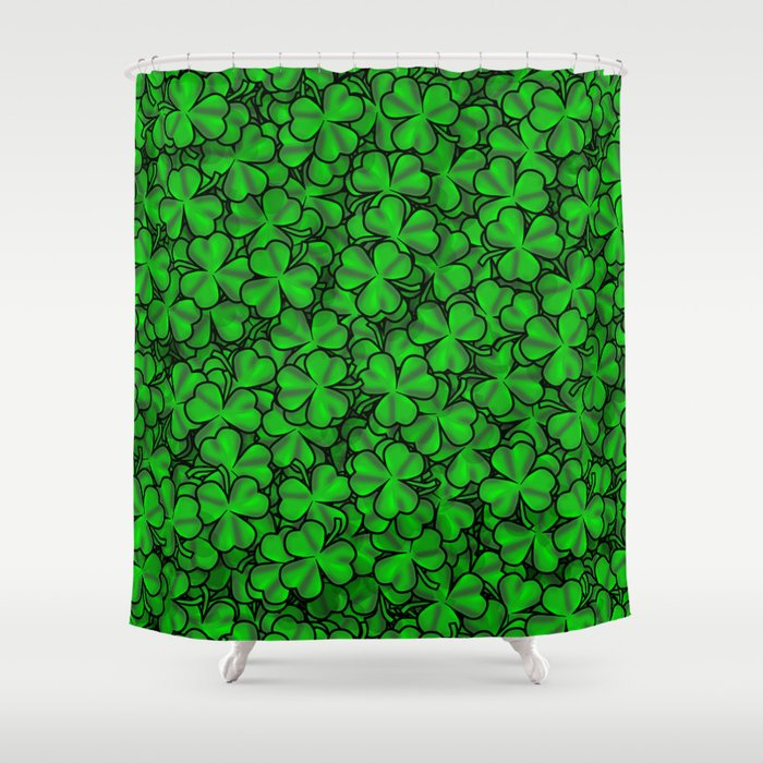 Shamrock Shower Curtain by 10813apparel | Society6