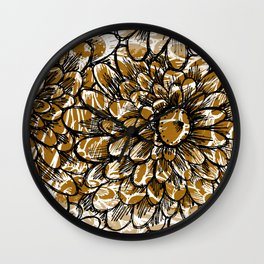 Moroccan Sunflower Wall Clock