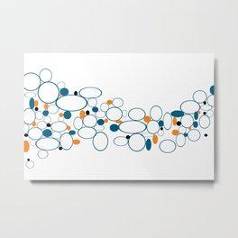 Blue Riverbed Metal Print