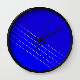 Victoria 4  Indigo Wall Clock