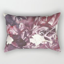 Purple Blooms Monoprint Rectangular Pillow