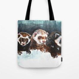 Three Sleepy Ferrets Tote Bag