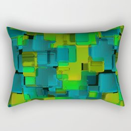 Abstraction. The graphic pattern. Rectangular Pillow