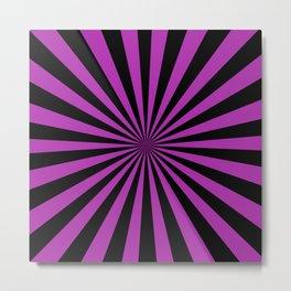 Starburst (Black & Purple Pattern) Metal Print