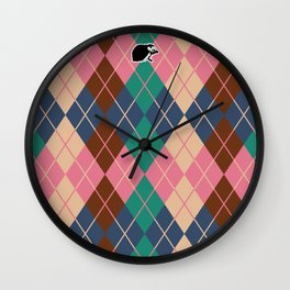 Shinbone's Pink Sweater 5 Wall Clock
