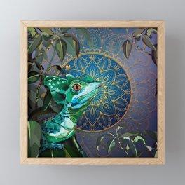 Basilisk Lizard Framed Mini Art Print