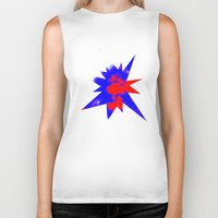 patriotic Biker Tanks featuring Patriotic Sky by Christy Leigh
