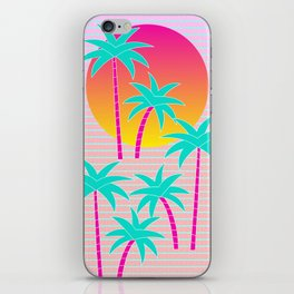 Hello Miami Sunset iPhone Skin