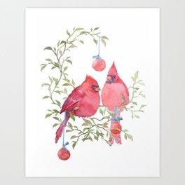 The Christmas Chirps Art Print
