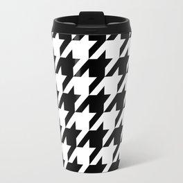 Classic Houndstooth Pattern Travel Mug
