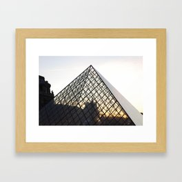 Abstract Louvre Pyramid Framed Art Print