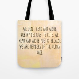 Read and Write Poetry Dead Poets Society Tote Bag