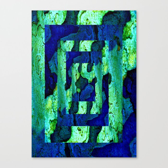 Nature in green blue 2 Canvas Print