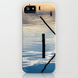 Pieces of wood reflection iPhone Case