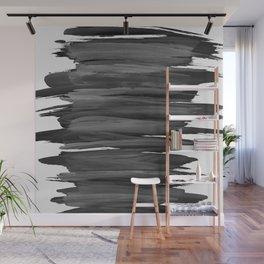 Black Abstract Minimalism #2 #minimal #ink #decor #art #society6 Wall Mural