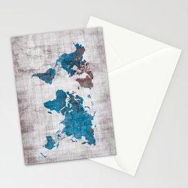 world map 96 blue #worldmap #map Stationery Cards