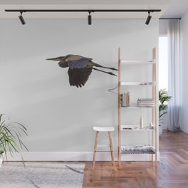 Great Blue Heron Abandons The Frog Hunt painterly Wall Mural
