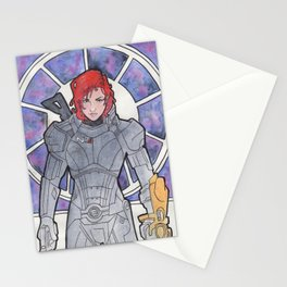 Commander Shepard Stationery Cards