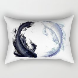 Yin Yang Carps Rectangular Pillow