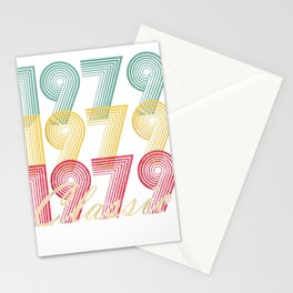40th Birthday T Shirt Gift Vintage 1979 Mom Dad Classic Stationery Cards