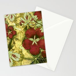 nasturtium with golden leaves Stationery Cards