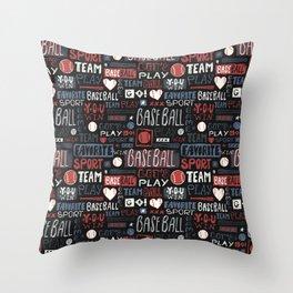 Sport. Baseball pattern. Throw Pillow