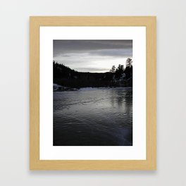 Ice Pond Framed Art Print