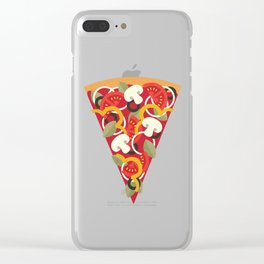 PIZZA POWER - VEGO VERSION Clear iPhone Case