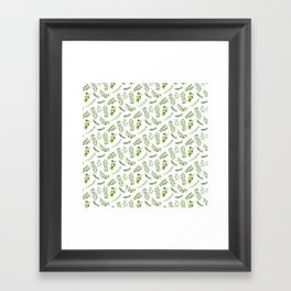 Forest in the Fall Pattern Framed Art Print