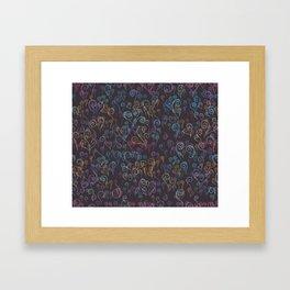 Pixelated Spirals Framed Art Print