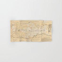 Vintage Map of Lake Winnipesaukee (1896) Hand & Bath Towel