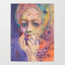 Queen Arabela with Blue eyes Poster