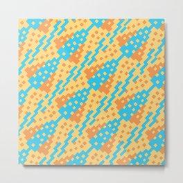 Chocktaw Geometric Square Cutout Pattern - New Mexico Metal Print