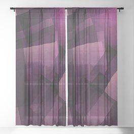 Modular Magenta - Digital Geometric Texture Sheer Curtain