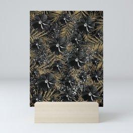 Tropical Diamond Flowers #2 #shiny #chic #floral #palms #decor #art #society6 Mini Art Print