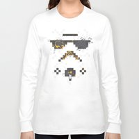 8 bit Long Sleeve T-shirts featuring 8-bit Trooper by Sitchko Igor