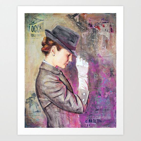 Grey Fedora Art Print
