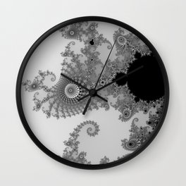 Males mandelbrot abstract Wall Clock