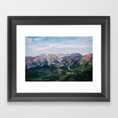 Going to the Mountains Framed Art Print