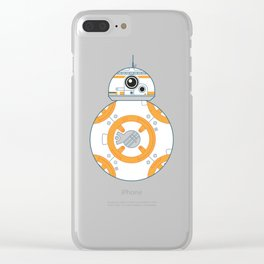 Minimal BB8 Droid Clear iPhone Case
