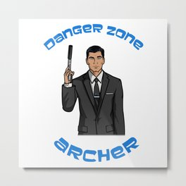 Danger Zone Metal Print