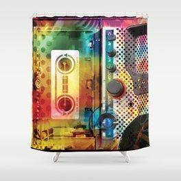 Pump the Jam Shower Curtain