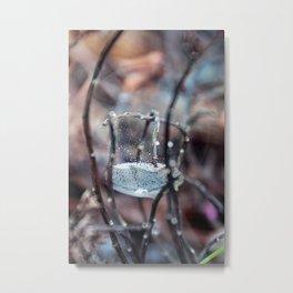 Fairy Kind of World Snow Globe Metal Print