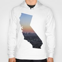 california Hoodies featuring California by jamester42