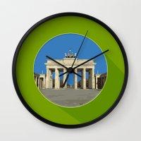berlin Wall Clocks featuring Berlin by Matthias Hennig
