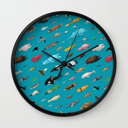Sleeping Animals Wall Clock