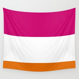 Tri-Color [Pink, White, Orange] Wall Tapestry