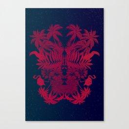 Tropical Rorschach Canvas Print