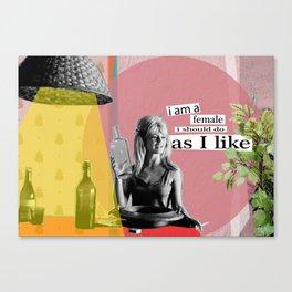 Brigitte Bardot quote collection Canvas Print