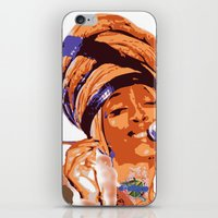 erykah badu iPhone & iPod Skins featuring Badu by DaeSyne Artworks